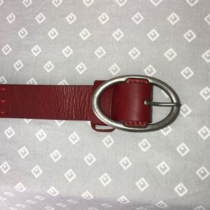 Coldwater Creek Red Distressed Belt